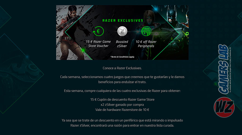 Razer Game Store en WZ Gamers Lab - La revista de videojuegos, free to play y hardware PC digital online