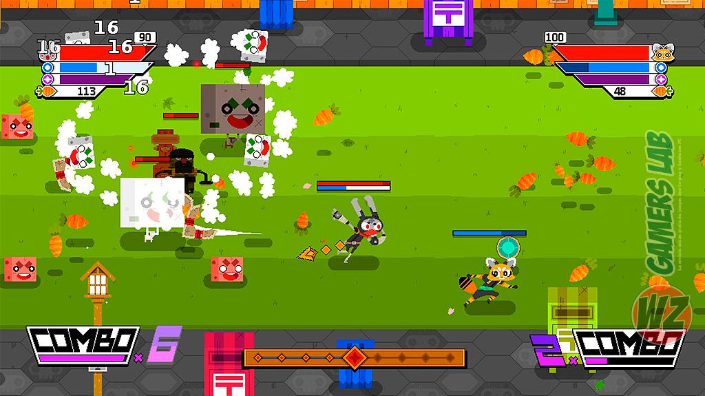 Sé un ninja recupera las zanahorias robadas en Ninjin: Clash of Carrots en WZ Gamers Lab - La revista de videojuegos, free to play y hardware PC digital online