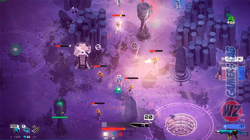 Afronta los desafíos de Zir, Dios de las Máquinas en SYNTHETIK: Arena en WZ Gamers Lab - La revista de videojuegos, free to play y hardware PC digital online