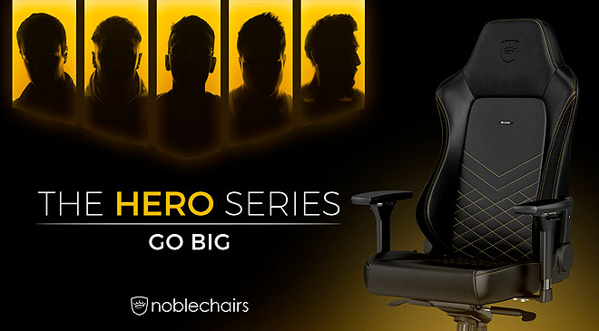Ya disponibles las sillas Hero Series de noblechairs en WZ Gamers Lab - La revista digital online de videojuegos free to play y Hardware PC