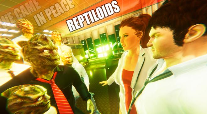 Salva a la humanidad en Reptiloids